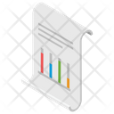 Graph Analysis Financial Performance Statistic Report Icon