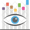 Statistical Vision Eyeball Icon