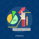 Statistics Ruler Storage Icon