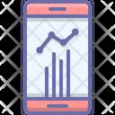Statistics Mobile App Icon