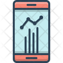 Statistics Mobile App Analytics Icon