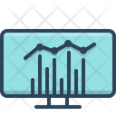 Statistics Analytics Seo Report Icon