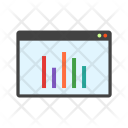 Statistics Report Monitor Icon