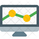 Statistics Analytic Monitor Icon