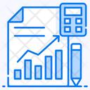 Statistics Analytics Data Accounting Icon