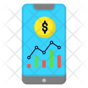 Smartphone Statistics Analytics Icon