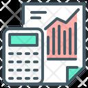 Analysis Calculator Chart Icon