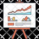 Statistics Presentation Report Icon