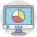 Statistic Screen Financial Icon