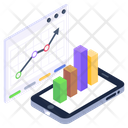 Statistics Mobile Infographic Modern Infographic Icon