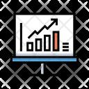 Statistics Flipchart Chart Icon