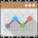 Statistics Line Graph Icon