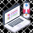 App Launch Business Launch Online Launch Icon