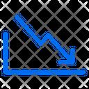 Stats Down Arrows Icon