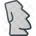 Statue Easter Island Icon