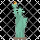 America Statue Liberty Icon