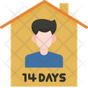 Stay At Home Quarantine Coronavirus Icon