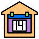 House Calendar Stay At Home Icon