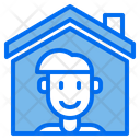 Man House Stay At Home Icon