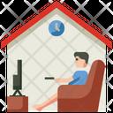 Stay At Home Coronavirus Quarantine Icon