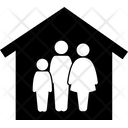 Stay At Home Home Quarantine Family Icon