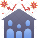 Stay Home Family Safe Icon