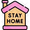 Stayhome House Covid Icon