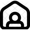 Stay At Home House Quarantine Icon