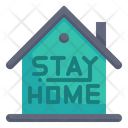 Stay At Home Stay Home Quarantine Icon