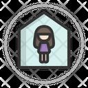 Stay Home Home Quarantine Icon