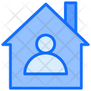 Stay At Home In House Safe Life Icon