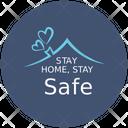 Stay Home Stay Safe Coronavirus Icon