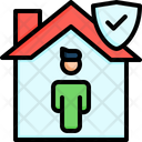 Stay Home Stay Isolation Icon