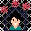 Stay Home Quarantine Covid 19 Icon