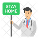 Stay Home Stay Safe Quarantine Icon