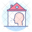 Button Stay Home Social Distancing House Isolation Icon