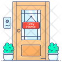 Entrance Stay Home Stay Safe Icon