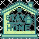 Stay Home House Quarantine Icon