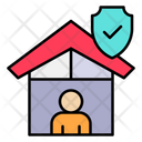 Stay Home Quarantine Safety Icon