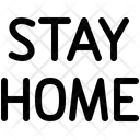 Lockdown Quarantine Stay Icon