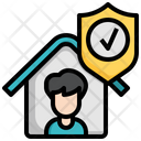 Stay Home Home Quarantine Medical Icon