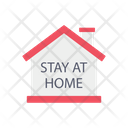 Stay Home Safety House Icon