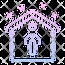 Stay Home Quarantine Epidemic Icon