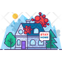 Stay Home And Safe Stay Virus Icon