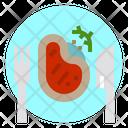 Steak Food Restaurant Icon