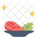 Steak on dish Icon