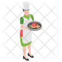 Steak Serving Food Serving Waiter Icon