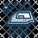 Steam Iron Steam Press Electric Iron Icon