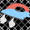 Steam Iron Press Icon