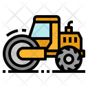 Steamroller Road Construction Icon